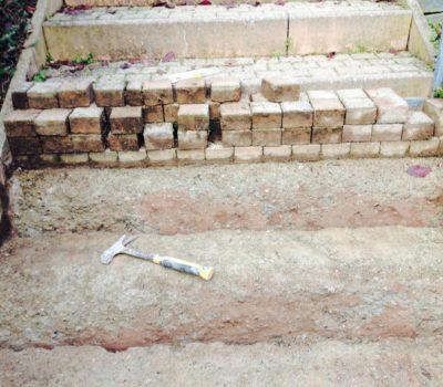 Naturstein: Aussen-Treppe Pflasterstein neu setzen und verlegen – Verwaltung